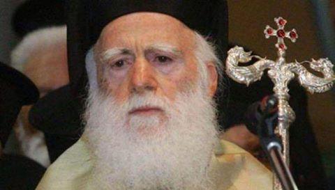 Ο Αρχιεπίσκοπος  Κρήτης κ. κ. Ειρηναίος,στο Θέρμο