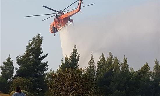 Υπό μερικό έλεγχο η πυρκαγιά  στην Κατούνα