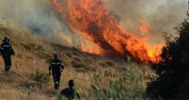Πυρκαγιά σε πευκόφυτη περιοχή στον Άγιο Βλάση