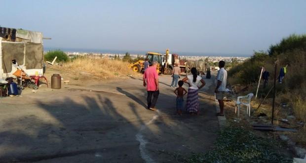 Πάτρα-Επιχείρηση καθαρισμού και διαμόρφωσης του χώρου στο Ριγανόκαμπο,σε καταυλισμό των Ρομά