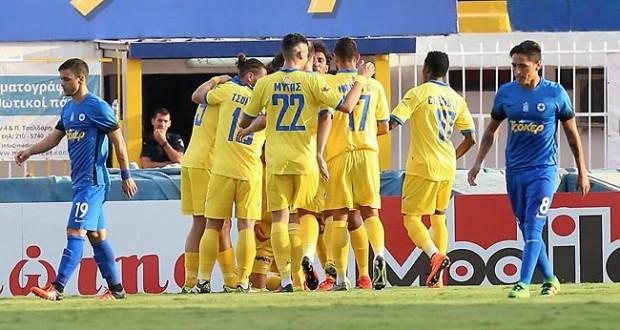 Ατρόμητος – Παναιτωλικός, στο ημίχρονο, 0-1, με σκόρερ τον Μιγκέλ Ροντρίγκες
