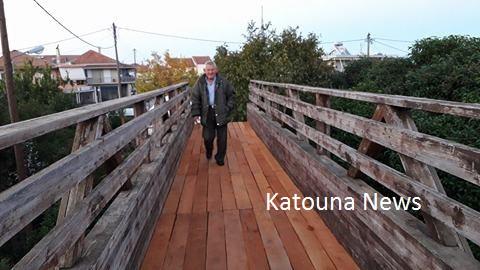 Παλιάμπελα Ακτίου-Βόνιτσας: Έτοιμη η αεροπεζογέφυρα (Φωτογραφίες)