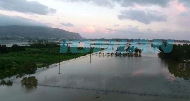 Απίστευτο: Η σφοδρή νεροποντή στη Ζάκυνθο δημιούργησε ξανά αποξηραμένη λίμνη (Βίντεο)
