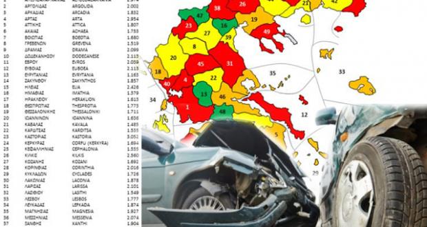 Αιτωλοακαρνανία: Ο δεύτερος νομός σε τροχαία μεγαλύτερης μέσης ζημιάς