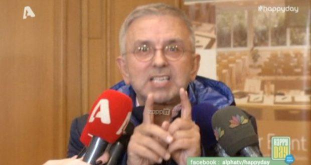 «Εξερράγη» ο Δήμος Βερύκιος όταν τον ρώτησαν για τον Λάκη Λαζόπουλο!
