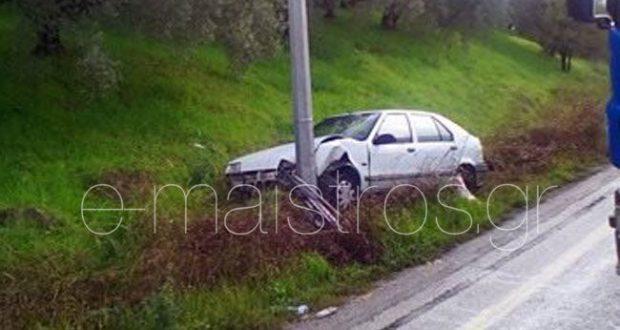 Τροχαίο ατύχημα στη Συκούλα στη γέφυρα Ανίνου