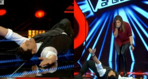 The Voice: Ο Σάκης Ρουβάς έπεσε στο πλατό! Ξάπλωσε μπροστά στην 20χρονη με τη μαγική φωνή!