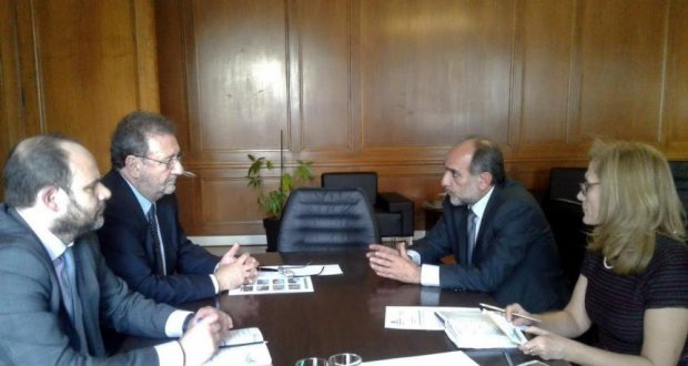 Συνάντηση Απ. Κατσιφάρα με τον Υφυπουργό Οικονομίας Στ. Πιτσιόρλα