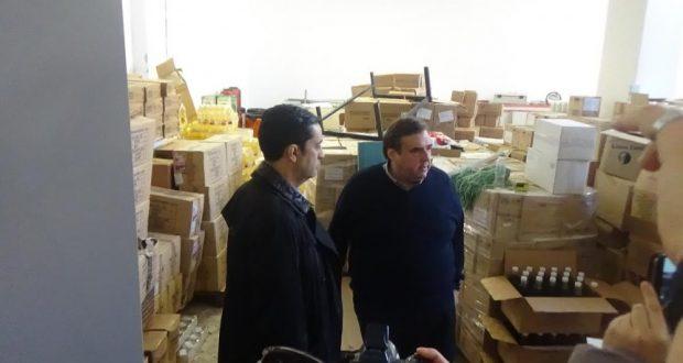 Επίσκεψη του Δημάρχου Αγρινίου, Γιώργου Παπαναστασίου στο Κοινωνικό Παντοπωλείο
