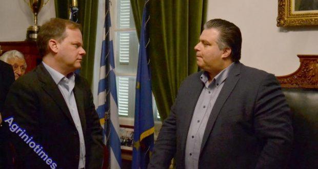 Συνάντηση του Δημάρχου Ιερής Πόλης Μεσολογγίου Νίκου Καραπάνου με το βουλευτή Σερρών Κώστα Καραμανλή