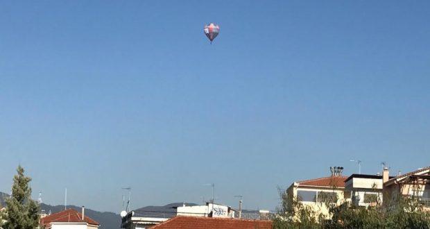 Πολύχρωμο αερόστατο στον ουρανό του Αγρινίου( βιντεο- φωτογραφίες )