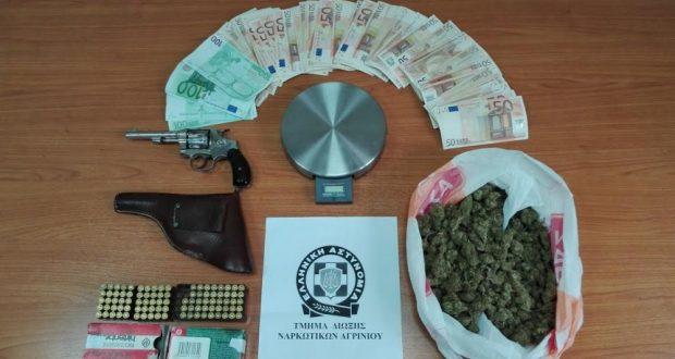 Συνελήφθη ημεδαπός στην Αμφιλοχία για παράνομη κατοχή όπλου, πυρομαχικών και κάνναβης