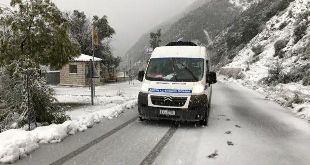 Οι Κινητές Αστυνομικές Μονάδες δίπλα στους πολίτες χιονισμένων ορεινών περιοχών της Δυτικής Ελλάδας