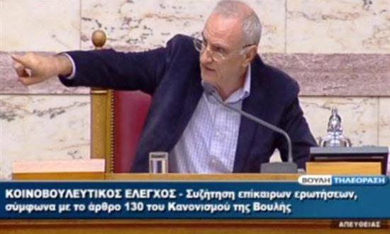 Ο Βαρεμένος στον Λοβέρδο: Η Βουλή δεν είναι γήπεδο (Βίντεο)
