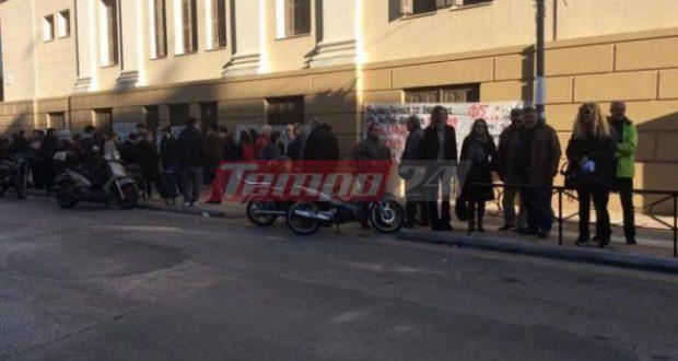 Πλειστηριασμοί: Μπλόκο στην Πάτρα – Διαμαρτυρία στο Ειρηνοδικείο