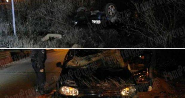 Βόνιτσα: Έφερε τούμπες και προσγειώθηκε σε χαντάκι (Φωτογραφίες)