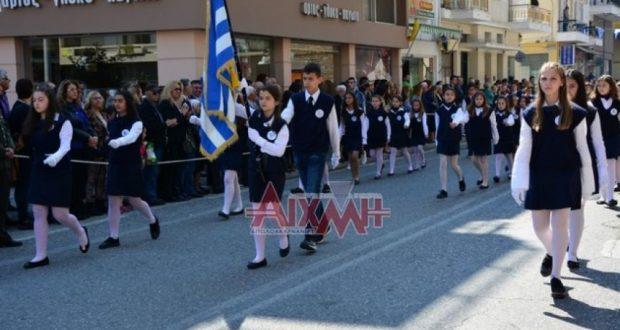 Μεσολόγγι: Με λαμπρότητα και εθνική υπερηφάνεια η παρέλαση για την 25η Μαρτίου