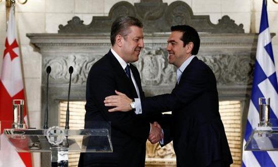Τσίπρας: Περαιτέρω ανάπτυξη της συνεργασίας Ελλάδας-Γεωργίας
