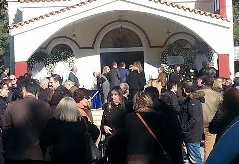 Ράγισαν καρδιές στην κηδεία του Επαμεινώνδα, γιου του Θανάση Κατερινόπουλου