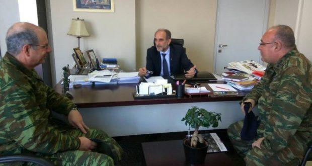 Συνάντηση του Περιφερειάρχη Απ. Κατσιφάρα με τον νέο Διοικητή του ΚΕΤχ