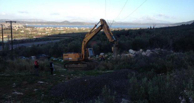 Εργασίες νέας γεώτρησης στην θέση «Τσαγκριναίικα» Αιτωλικού