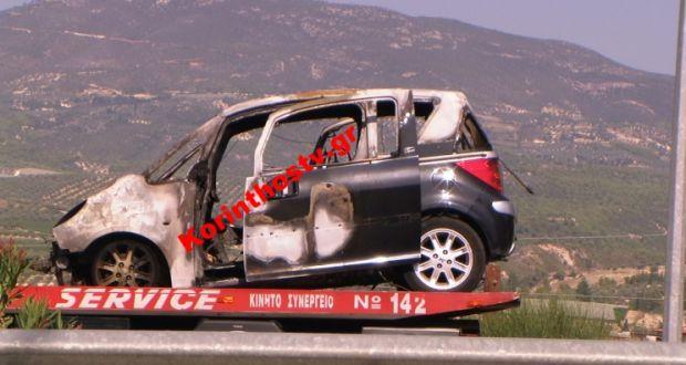 Αυτοκίνητο «λαμπάδιασε» εν κινήσει στην Κορίνθου-Τριπόλεως (Βίντεο)