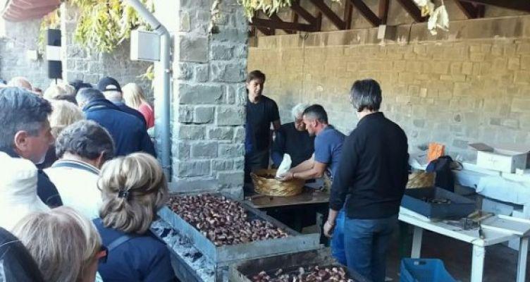 Άνω Χώρα Ναυπακτίας: Πλήθος κόσμου στη γιορτή Κάστανου (Φωτό)