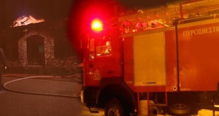 Πυρκαγιά στον Άγιο Παντελεήμονα στο Αντίρριο (Φωτό)