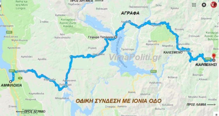 Eπι τάπητος η οδική σύνδεση της Ευρυτανίας-Ορεινού Βάλτου με την Ιόνια Οδό