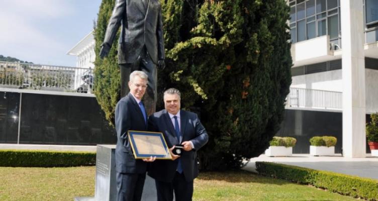 Συνάντηση του Δημάρχου Ι. Π. Μεσολογγίου με τον Πρέσβη των Η.Π.Α. στην Ελλάδα