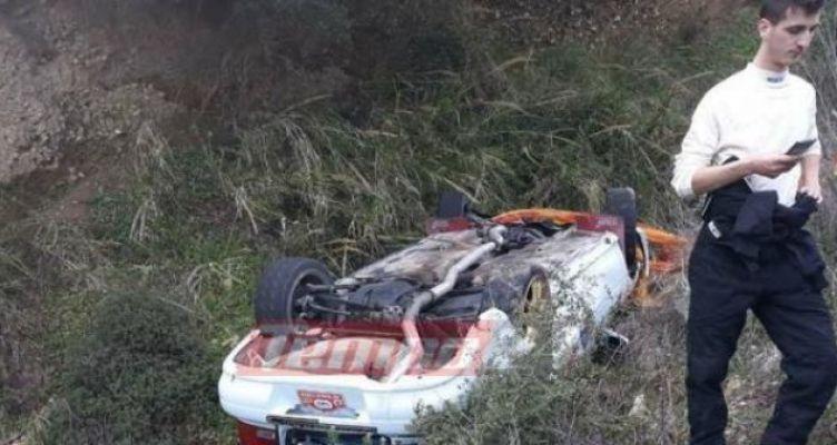 Ατύχημα στο 40ο Ράλι Αχαιός – Subaru έπεσε σε χαράδρα, στο Νοσοκομείο ο οδηγός! (Φωτό)