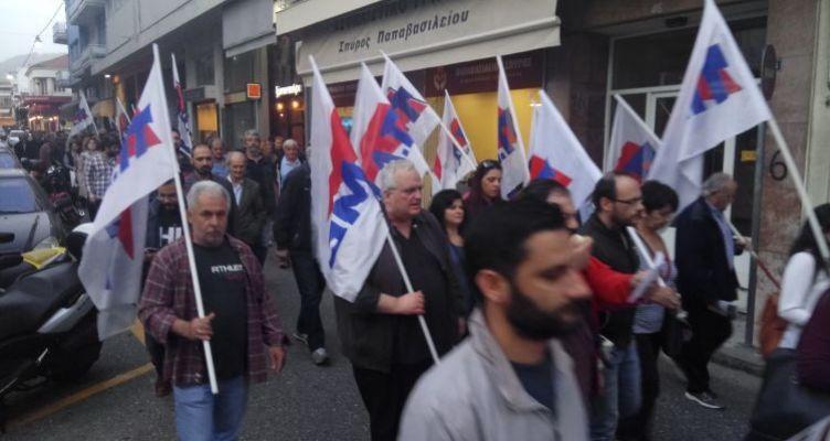 Αντιπολεμικό συλλαλητήριο του Εργατικού Κέντρου στο Αγρίνιο (Φωτό)