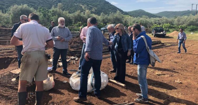 Η Αντιπεριφερειάρχης κ. Χριστίνα Σταρακά σε έργα που εκτελούνται στα διοικητικά όρια του Δήμου Θέρμου