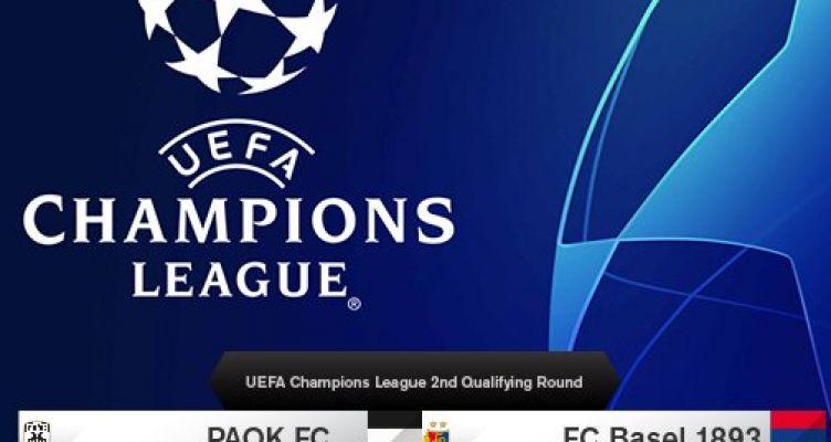 Champions League: Με την Βασιλεία ο Π.Α.Ο.Κ. στον 2ο προκριματικό γύρο!