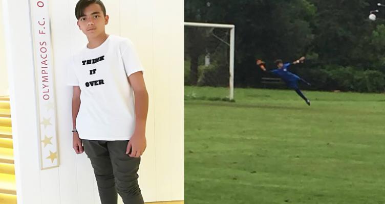 Στην Κ14 του Ολυμπιακού ο 13χρονος Κωνσταντίνος Αρβανίτης από την Παλαιομάνινα