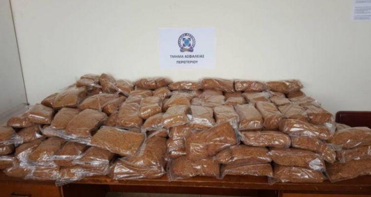 ΚΤΕΛ Κηφισού: Μπλόκο σε παράνομο φορτίο 100 κιλών καπνού από το Αγρίνιο