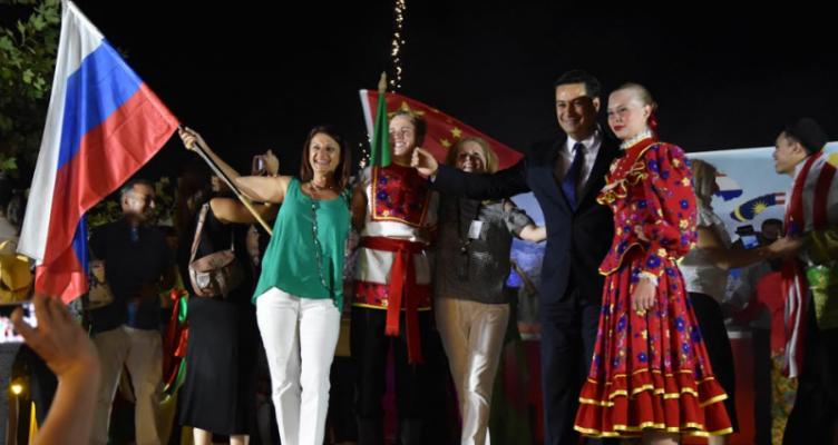 Λίμνη Τριχωνίδα: Τελετή λήξης του Διεθνούς Φεστιβάλ Παραδοσιακών Χορών (Φωτό)