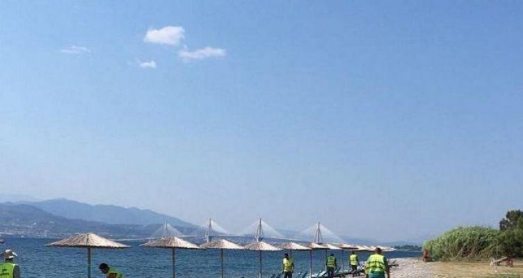 Δωρεάν ξαπλώστρες στην παραλία της Παλαιοπαναγιάς Ναυπάκτου (Βίντεο)