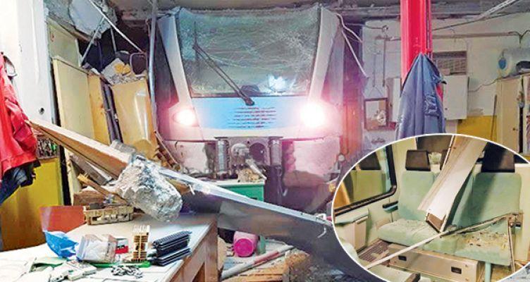 Τρένο μπούκαρε σε αποθήκη – Άγιο είχαν δύο γυναίκες οι οποίες επέβαιναν σε αμαξοστοιχία