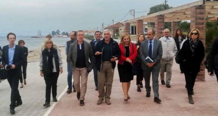 Στο Αίγιο στελέχη της Ευρωπαϊκής Επιτροπής – Επισκέφθηκαν έργα που χρηματοδοτήθηκαν