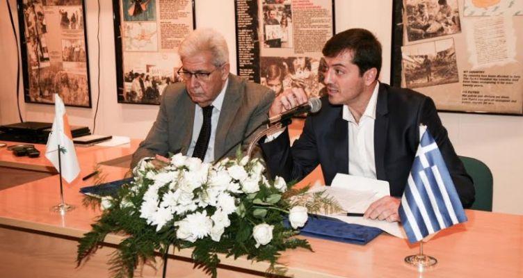 Τελετή Αδελφοποίησης του Δήμου Μεσολογγίου με τον Δήμο Αμμοχώστου (Φωτό)