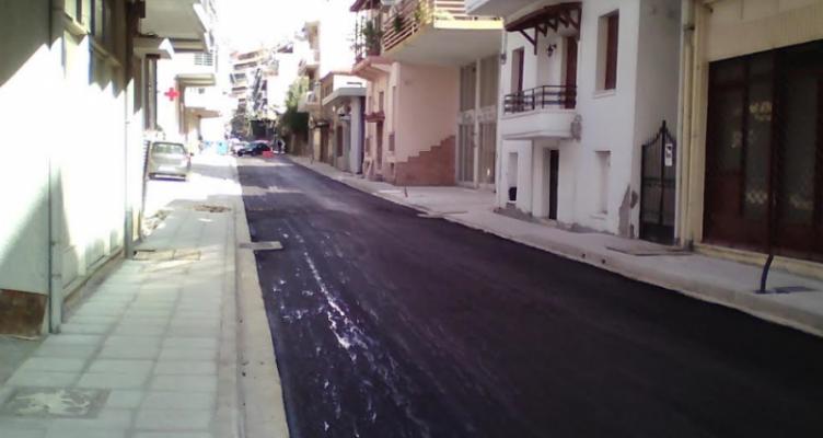 Δήμος Αγρινίου: Ανακατασκευή και παράδοση στην κυκλοφορία τμήματος της Οδού Γρίβα (Φωτό)