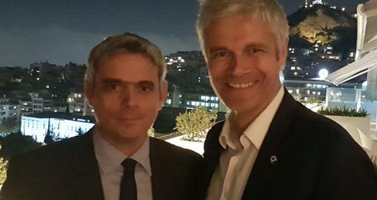 Συνάντηση εργασίας του Κώστα Καραγκούνη με τον Laurent Wauquiez