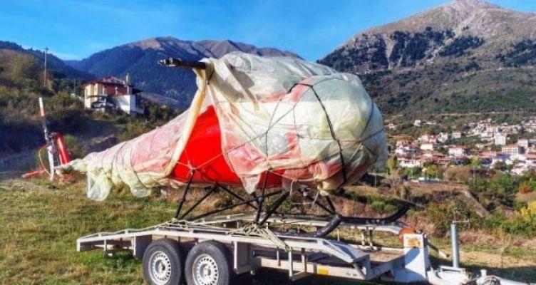 Στο Καρπενήσι βρέθηκε το κλεμμένο ελικόπτερο από το αεροδρόμιο του Μεσολογγίου! (Φωτό)