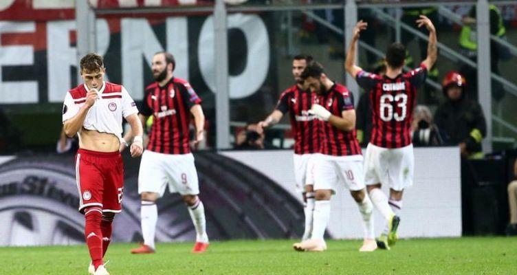 Europa League: Κατέρρευσε μέσα σε οκτώ λεπτά ο Ολυμπιακός και έχασε με 3-1 από την Μίλαν