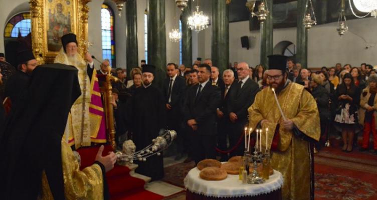 Ο Οικουμενικός Πατριάρχης στον πανηγυρίζοντα Ι.Ν. Αγ. Δημητρίου Κοινότητας Ταταούλων