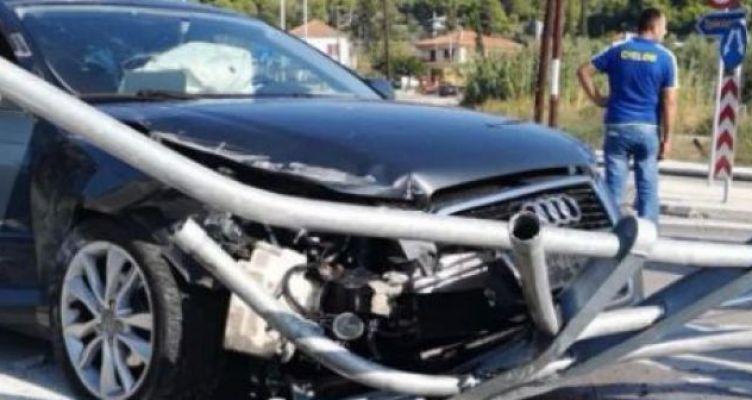 Τροχαίο ατύχημα στα Χάνια Γαβρολίμνης στον κυκλικό κόμβο (Βίντεο-Φωτό)
