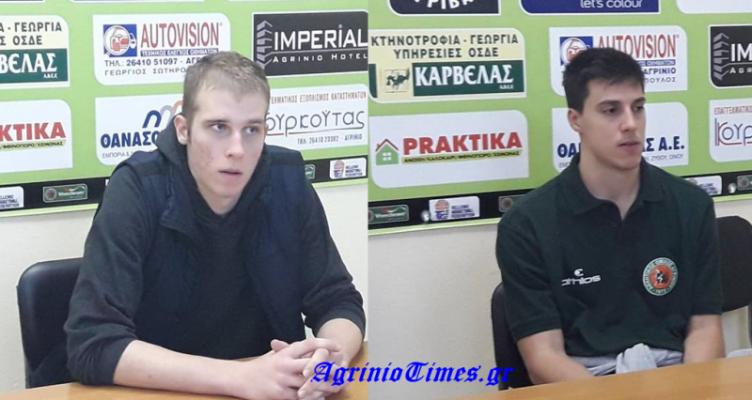 Β' Εθνική: Οι δηλώσεις του Κ. Τσιρογιάννη και του Δ. Καπινιάρη (Βίντεο)