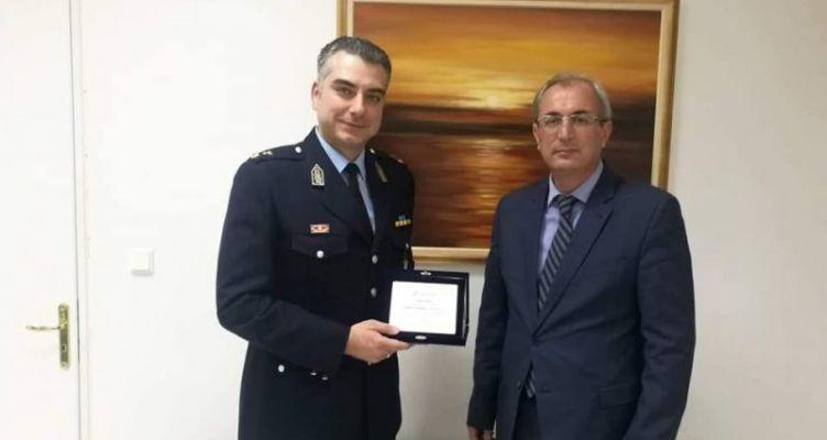 Το Δ.Σ. Θέρμου τίμησε τον απερχόμενο διοικητή του αστυνομικού τμήματος, Αλέξη Αντωνίου