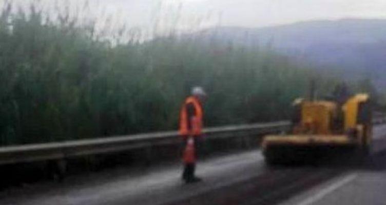 Αγρίνιο: Μποτιλιάρισμα στην Εθνική Οδό λόγω εργασιών (Φωτό)